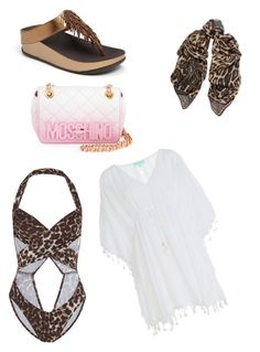 Untitled #149 by mag11rich on Polyvore featuring polyvore, fashion, style, Melissa Odabash, Norma Kamali, FitFlop, Moschino, Roberto Cavalli and clothing