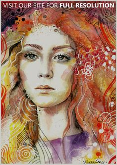 Colorful Portrait Paintings by Veronika | CrispMe