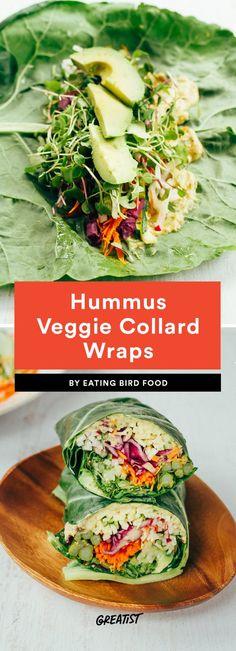 Hummus Veggie Collard Wraps