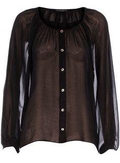 Black ballooon sleeve blouse - Fashion Tops - Clothing - Dorothy Perkins - StyleSays