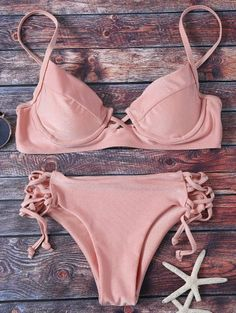 SHARE & Get it FREE   Cami Lace Up Bikini - PinkFor Fashion Lovers only:80,000+ Items • New Arrivals Daily Join Zaful: Get YOUR $50 NOW!