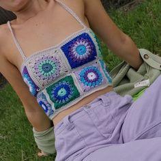 Crochet Crop Top, Hand Crochet, Knit Crochet, Crochet Granny, Crochet Top Outfit, Crochet Tops, Crochet Outfits, Hippie Crochet, Crochet Summer Tops