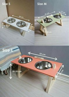 Elevated Dog Bowls, Raised Dog Bowls, Big Dogs, Small Dogs, Dog Bowl Stand, Dog Feeder, Pet Furniture, Pet Bowls, Pet Names