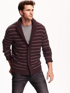 Men's Shawl-Collar Cardigan
