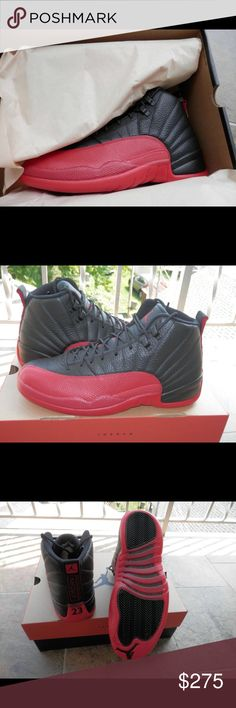 539f41c71eb5e Nike Air Jordan 12 XII Retro Flu Game 130690 002 Mens basketball sport shoes