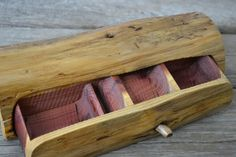 Small Aromatic Cedar Jewelry Box Band Saw Box by CreationCarvings