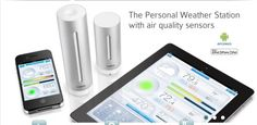 Netatmo - The First iPhone Weather Station, with air quality sensors, wifi, wireless weather station. World Meteorological Day, Personal Weather Station, First Iphone, Ipad, Color Picker, Le Web, Security Camera, Smart Home, In This World