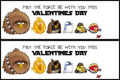 They Are Crafty: Angry Birds Star Wars Valentines