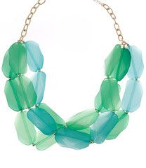 Turquoise & Green Jewel Layer Necklace