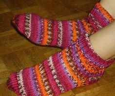Le tuto des chaussettes 2 aiguilles du blog Madame Crochet, la femme du capitaine