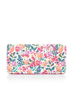 Printed with summer florals, this pretty travel wallet is designed with multiple pockets to store your passport, important documents and cards, plus a pen holder. Accessorize