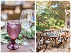 Simple Decor Outdoor Reception Dinner | Sand Rock Farm Wedding Photographer - Aptos Wedding - Jon&Megan - Chico California Wedding Photography and Videography by Chico Photographer Videographer Couple TréCreative