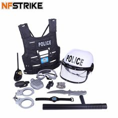 Children Pretend Play Toy Set Simulation Policeman Role Play Kits Occupations Toys for Boys Kids Playing Set Kids Toys For Boys, Games For Kids, Tinker Toys, Pretend Play, Role Play, Outdoor Toys, Toy Store, Educational Toys, Cool Toys