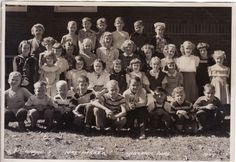 """Lawrence Park, 3rd Grade, Mrs. Parker - Erie, PA - approx 1949 [Boy in the sailor hat on the top right is Gail """"Butch"""" Garren.]"""