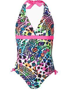 Breaking Waves Girls Swimsuit