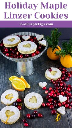 'Tis the Season! It's time to smell the heavenly cookies baking and enjoy every bit of them 🙂 I'm making a classic today, but with such a delicious twist! These Holiday Maple Linzer Cookies are buttery, not too sweet, flecked with a touch of orange zest, studded with almond flour and stuffed with a divine lick your spoon Maple frosting! OMG you won't miss out on the jam here!