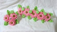 Custom order -  Pink chrysanthemum kanzashi set by ImlothMelui
