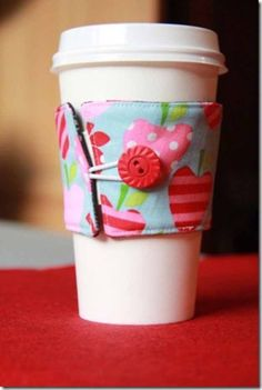 Cool Crafts You Can Make for Less than 5 Dollars | Cheap DIY Projects Ideas for Teens, Tweens, Kids and Adults | Reversible Coffee Cup Sleeves | http://diyprojectsforteens.com/cheap-diy-ideas-for-teens/