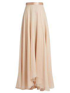 Satin-waistband silk-crepon skirt  | Lanvin | MATCHESFASHION.COM