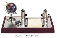 **** FREE ARTWORK , FREE SETUP AND FREE SHIPPING ****    Sale Up to 65% off store wide #bulk #gifts #freeartwork #freeEproof #businessgifts #bulk    ****Let us know if you want to customize it****      Desk Organizer With Business card holder WAUSCBH02930: This elegantly designed desk organizer is a great piece to add to your collection. It features an elegant globe, business card holder, card ,note pad holder and a stylish pen stand. This set includes everything you need to give your desk…