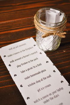 Create a Date Night in a Jar full of fabulous ideas that are either free or cheap for date nights with your love - plus, download a FREE Printable!