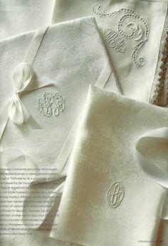 Splendid Sass: VICTORIA CLASSICS ~ MONOGRAMS, love antique monogramed linens