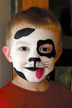 40 Cool Face Painting Ideas For Kids Face halloween makeup dog face - Halloween Makeup Boy Halloween Makeup, Pretty Halloween, Halloween Make Up, Halloween Halloween, Family Halloween, Women Halloween, Dog Face Paints, Face Painting For Boys, Easy Face Painting Designs