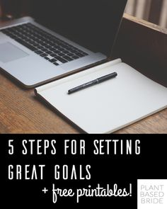 A really helpful article on goal setting over at Plant Based Bride!
