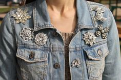 Denim Brooches 2