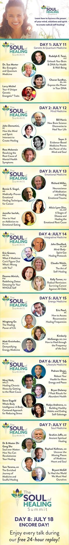 Soul of Healing Summit: Harness the power of mind, emotions and spirit for self-healing! Starts Monday, July 11th - register today!