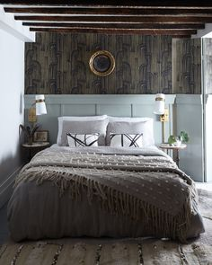 Megan Plug's Guest Suite is dreamy...gorgeous - wallpaper is prob too much for me in combination with everything else, but the rest of it is perfect.