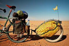 My bike's rear end in the Sudanese desert by tomsbiketrip.com, via Flickr