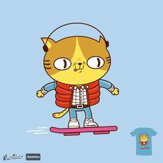 Meowrty Catfly on Threadless