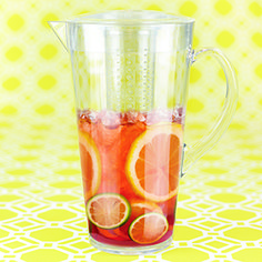 Iced Tea Infusion Jug This BPA-free Iced Tea Infusion Jug is great for steeping both hot and cold tea. It's safe to use with either boiling water or ice! Unique removable fine infuser. Perfect for Rooibos tea! 64oz. (1.9L)