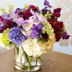 Something is plum wonderful today ...sweet pea and hyacinth