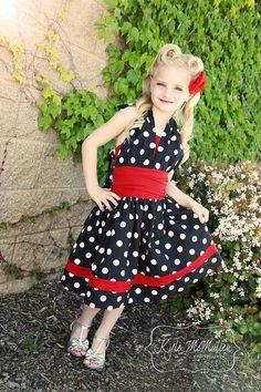 NEW  Summer 2014  Lexie's Retro Halter Dress by CreateKidsCouture, $8.00