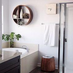 Total dream bathroom. @JoshuaRaymund hung our Shape Wall Shelf! #mywestelm #regram #decor
