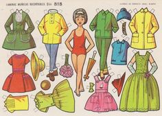 RECORTABLE (12,5X17,5)) EVA Nº 818. AÑO 1964.. (Coleccionismo - Recortables - Muñecas)