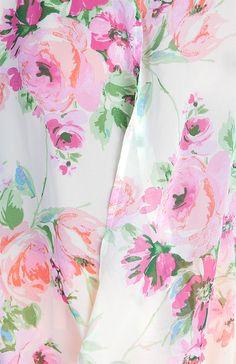 Draped Floral Print Top