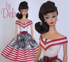 Anchors Away - Vintage Reproduction Repro Barbie Doll Dress Clothes Fashions
