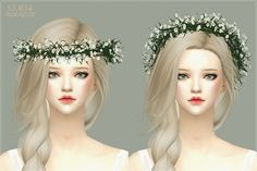 Gypsophila Flower Crown at Marigold • Sims 4 Updates