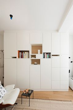 """© Design Filip Janssens, all rights reserved Home Office Design, House Design, Modern Scandinavian Interior, Urban Decor, Shelf Design, Wall Storage, Home And Living, Room Inspiration, Home Furniture"