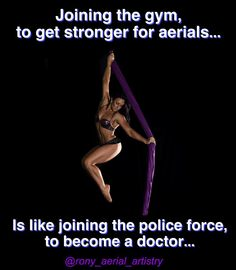 Just gonna leave this here To all those that want to try aerials. But think they need to get stronger first That's exactly why you do a beginner aerial course! by rony_aerial_artistry Aerial Acrobatics, Aerial Dance, Aerial Hoop, Aerial Arts, Aerial Silks, Pole Dancing Fitness, Pole Fitness, Circus Quotes, Dance Dreams