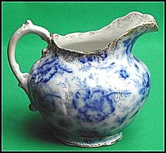 Flow Blue: PANSY water pitcher