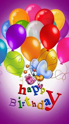 Happy Birthday wallpaper by - 24 - Free on ZEDGE™ Happy Birthday Greetings Friends, Free Happy Birthday Cards, Happy Birthday Wishes Photos, Birthday Wishes Flowers, Happy Birthday Video, Happy Birthday Celebration, Happy Birthday Flower, Birthday Blessings, Happy Birthday Messages