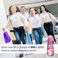 Enter now for a chance to win a $250 gift card & a year's supply of Purex…