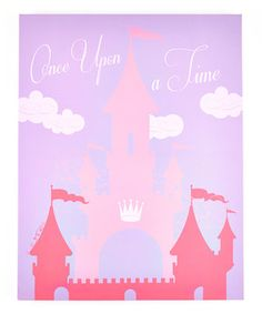 Look what I found on #zulily! Pink 'Once Upon a Time' Castle Canvas by Beriwinkle #zulilyfinds