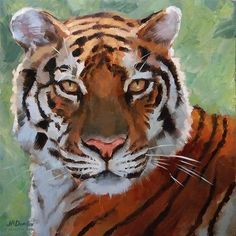 "Daily Paintworks - ""Vibrantly Tiger (announcing print store)"" - Original Fine Art for Sale - © J. Dunster"