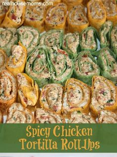 Spicy Chicken Tortilla Roll-Ups