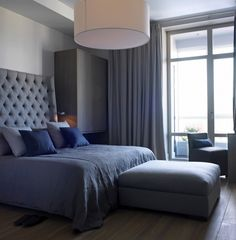 Bedroom Bliss. Stormy grey on grey. Interior Design: Ekaterina Kotova of SUITE Home Interiors.